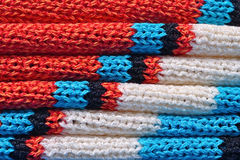 Stack of  knitted closeup Stock Photography