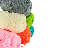 Stack of knitting yarn Stock Photography