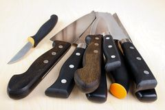 Stack of knives Stock Photos