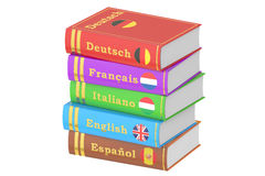 Stack of Languages Books, 3D rendering Stock Photography