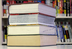 Stack of large books Royalty Free Stock Images