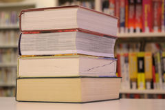 Stack of large books - angle view Royalty Free Stock Photo