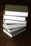 Stack of law books. On wooden floor in library Royalty Free Stock Image