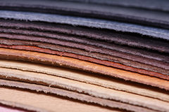 Stack of leather Stock Photography
