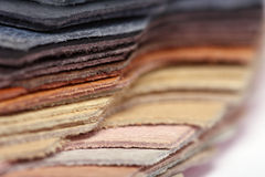 Stack of leather - macro Royalty Free Stock Image