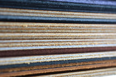 Stack of leather. Macro close up Royalty Free Stock Photos
