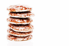Stack of lebkuchen gingerbread cookies Royalty Free Stock Photography
