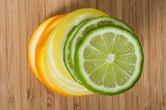 Stack of lemon, lime  orange Stock Photography