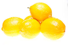 Stack of lemons close up Stock Photo