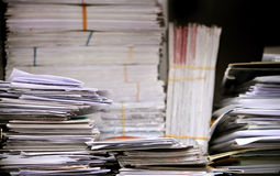 Stack of letters and papers Royalty Free Stock Photo