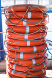 Stack of lifebuoy Stock Image