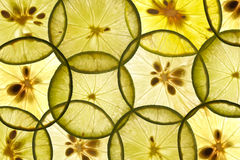 Stack of lime pieces Royalty Free Stock Images
