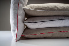 Stack of linen pillows Royalty Free Stock Photography