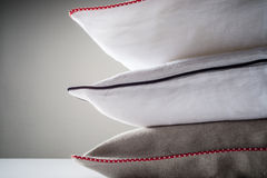 Stack of linen pillows Royalty Free Stock Images