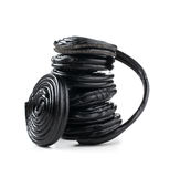 Stack of liquorice reels Royalty Free Stock Photos