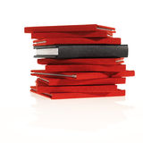 Stack of little red books Royalty Free Stock Photography