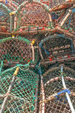 Stack of lobster crab pots traps Royalty Free Stock Image