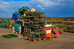 Stack of Lobster Pots. Stock Photo