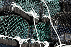 Stack of lobster pots Royalty Free Stock Photo