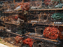 Stack of lobster traps Stock Images