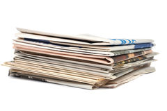 Stack of local newspapers Royalty Free Stock Images