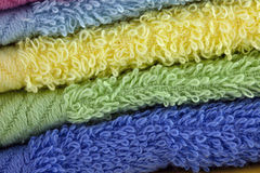 Stack of loop towels Royalty Free Stock Images
