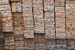 Stack of lumber Stock Photography