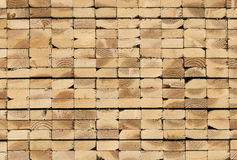 Stack of lumber. Lumber waiting for delivery to jobsite Royalty Free Stock Photo