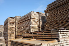 Stack of lumber. For construction Royalty Free Stock Images