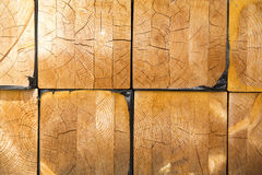 Stack of lumber in timber logs storage for construction or indus Stock Images