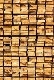 Stack of lumber in timber logs storage Stock Photo