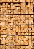 Stack of lumber in timber logs storage Royalty Free Stock Image