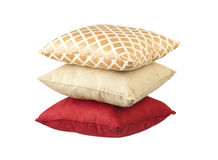 Stack of luxury cushions Stock Images