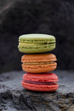 Stack of macaroons biscuits Stock Photography