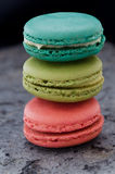 Stack of macaroons biscuits Stock Photos
