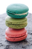 Stack of macaroons biscuits Royalty Free Stock Photos