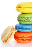 Stack of macaroons. Stack of colorful and delicious macaroons Stock Photos