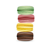Stack of macaroons isolated Stock Photo