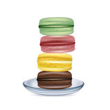 Stack of macaroons on plate  Stock Photo