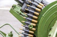 Stack of machine gun ammunition Royalty Free Stock Image
