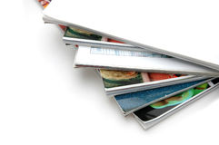 Stack of Magazine Closeup Stock Image