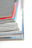 Stack of Magazine Closeup. Closeup of magazine stack together (Shallow DOF royalty free stock image