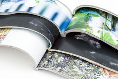 Stack of magazines. On white background Stock Images