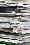 Stack of magazines Royalty Free Stock Images