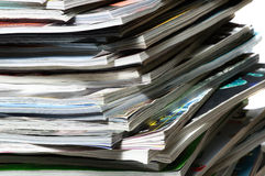 Stack of magazines . Stock Photography
