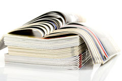 A stack of magazines Stock Images