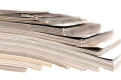 Stack of magazines. Print, paper, press, publication, bunch Royalty Free Stock Image