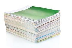 Stack of magazines Stock Photo