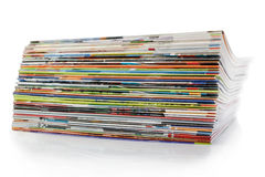 Stack of magazines. Royalty Free Stock Photo