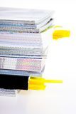 A stack of magazines Royalty Free Stock Images